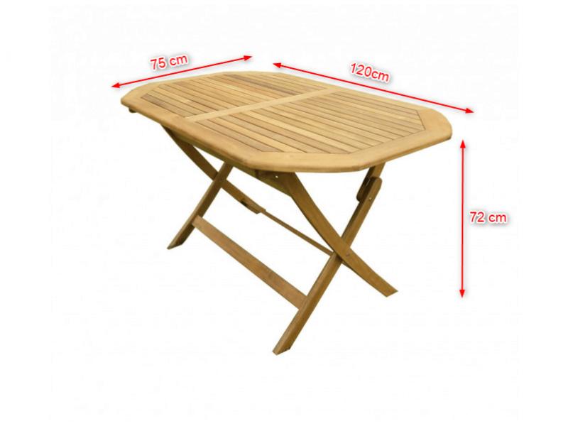 6-Sitzer Gartentischset oval