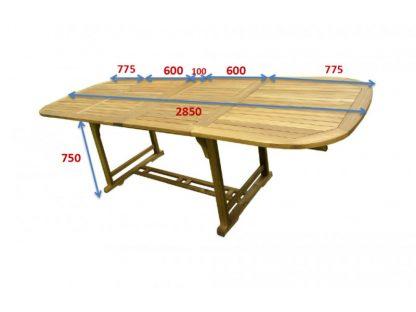 Gartentisch 12 Personen ausziehbar