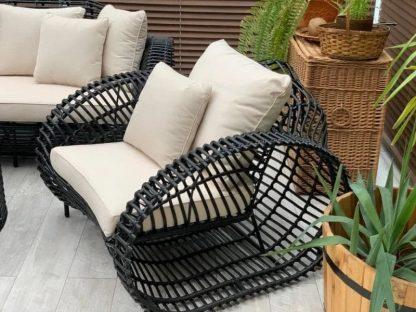 Polyrattan Sofa für Loungemöbel