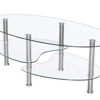 Couchtisch glas oval