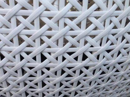 Weißer Polyrattan Gartenmöbelset