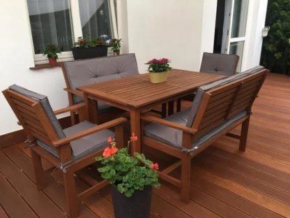 Gartensessel Meranti mit Auflage