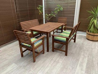 Gartentisch Bänke Sessel Sitzkissen