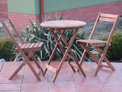 Kleiner Balkonmöbel Set aus Holz Bistro