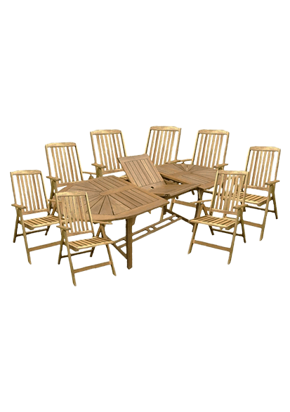 Gartenmöbel Set Akazie mit Klappstühlen BRISTOL