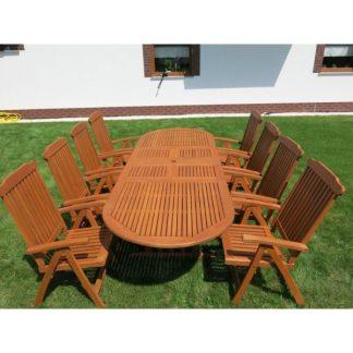 Tisch mit acht Stühlen