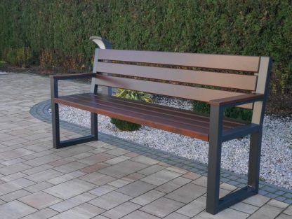 Holz Metall Gartenbank