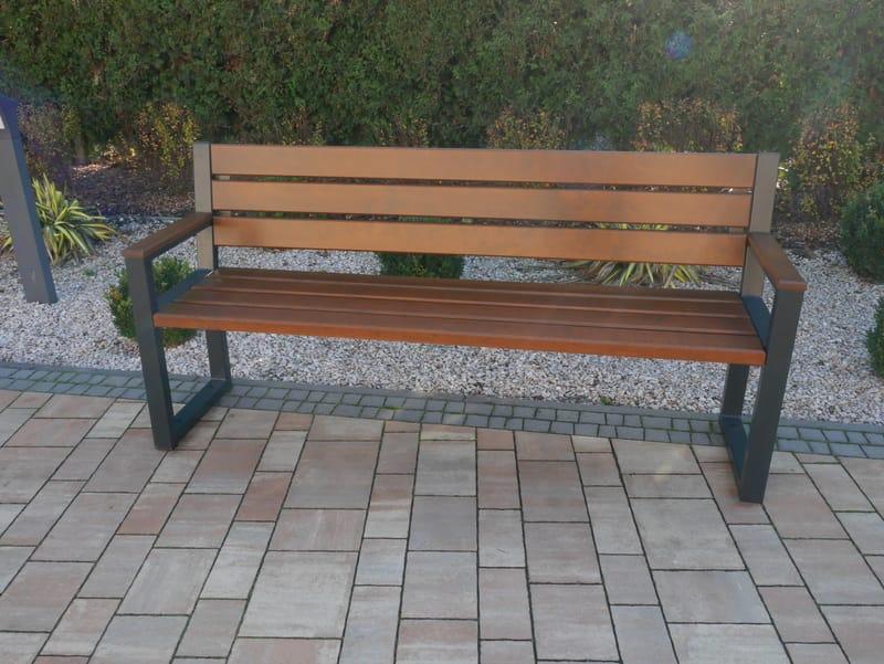 Gartenbank Holz Metall