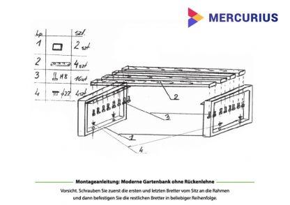 moderne Gartenbank Montage