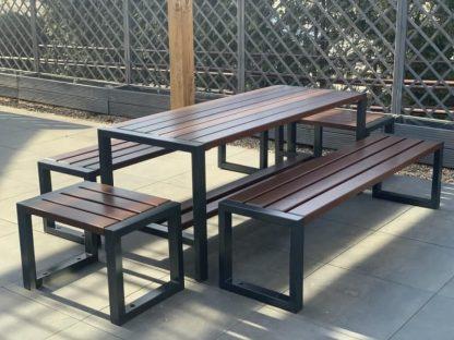 Holz Metall Gartenmöbel