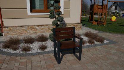 Gartenstuhl aus Alu und Holz