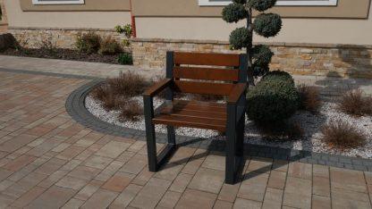 Gartenstuhl Holz Metall