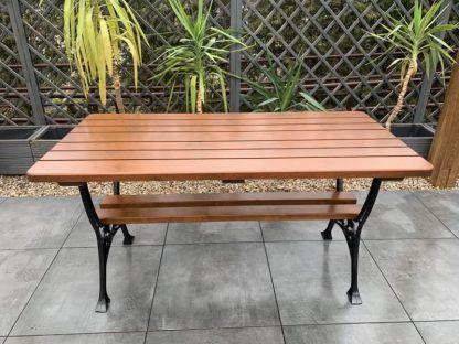 Gartentisch Holz Alu