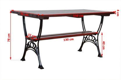 Gartentisch aus Holz und Metall