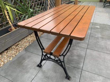 Gartentisch Holz Aluminium