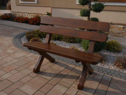 Gartenbank aus Holz massiv