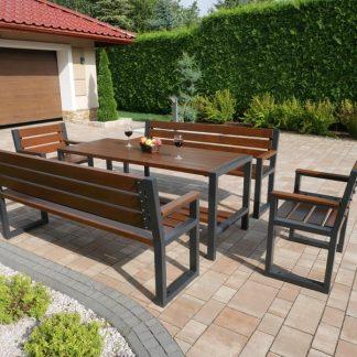 Gartenmöbel Set Holz Metall