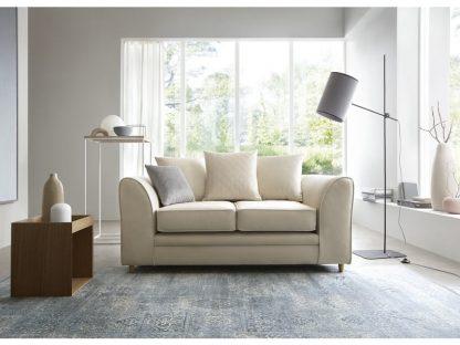 Creme Sofa 2-Sitzer mit Inneneinrichtung