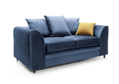 Schrägansicht dunkelblau 2-Sitzer-Sofa Schrägansicht