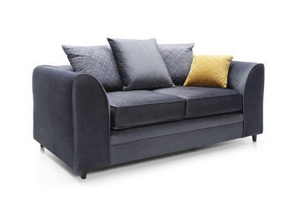 Schrägansicht dunkelgrau 2-Sitzer-Sofa Schrägansicht