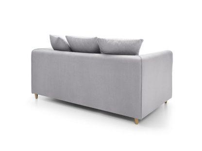 hellgraues Sofa 3-Sitzer Rückenansicht