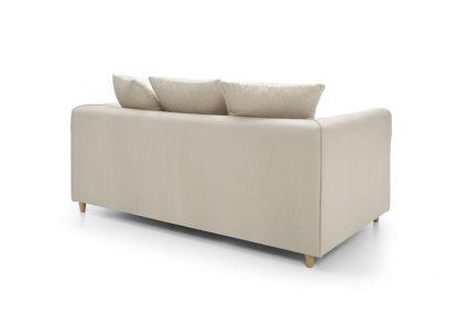 creme 2-Sitzer Sofa Rückenansicht