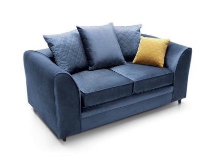 dunkelblaues 2-Sitzer-Sofa günstig