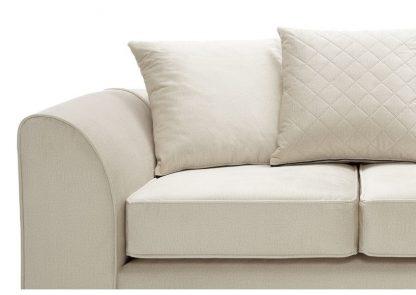 creme 2-Sitzer-Sofa, Kissenansicht